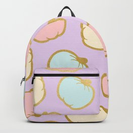 Pastel Pumpkin Pattern with Gold Backpack