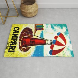 Vintage 1957 Cordial Campari Advertisement Poster Rug