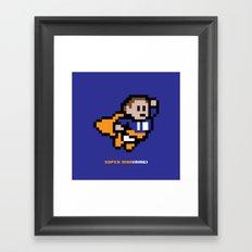 8-Bit: Super Man(ning) Framed Art Print