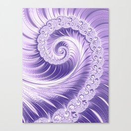 Ultra Violet Luxe Spiral Pattern   Trendy Color of the Year 2018 Canvas Print
