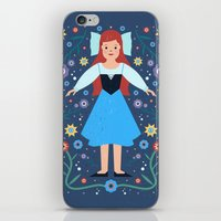 ariel iPhone & iPod Skins featuring Ariel by Carly Watts