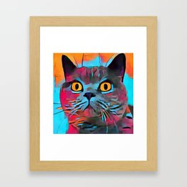 British Shorthair Framed Art Print