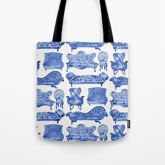 Victorian Lounge – Navy Palette Tote Bag