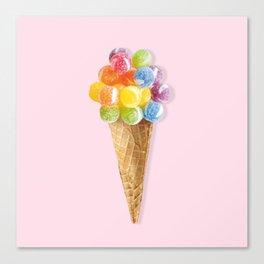 Candy Icecream Canvas Print
