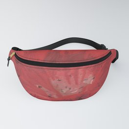 Digital Red Flower Painting Fanny Pack