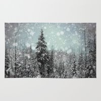 jon snow Area & Throw Rugs featuring Snow by Pure Nature Photos