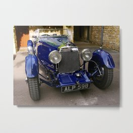 ASTON MARTIN 1933 (Colour Version) Metal Print