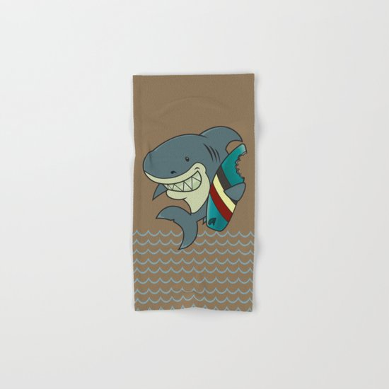 The great white surfer Hand & Bath Towel