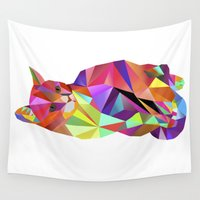 karl Wall Tapestries featuring Alfonso the Cat - Karl Kater by Miss Cooper