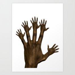 hands on hands Art Print
