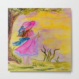 Pink Hat Metal Print