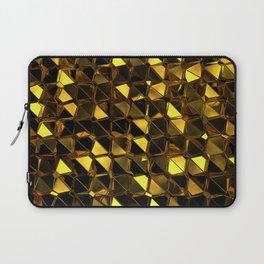 Golden Polygons 02 Laptop Sleeve