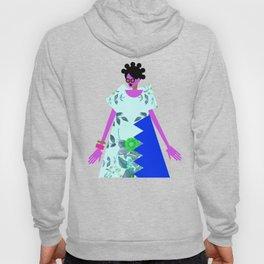 Bantu Knots and a Blue Dress Hoody