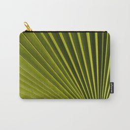 Green Palm Leaf Macro Up Close Nature Floral Fine Art Print Carry-All Pouch