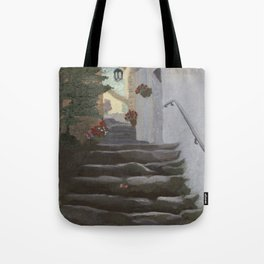 Italian Street and Stairs  Tote Bag
