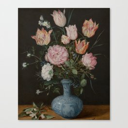 Flowers in a Wan-Li Vase - Jan Brueghel the Elder (1610-1615) Canvas Print
