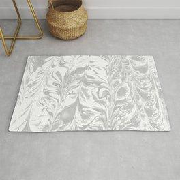 Marble grey 1 Suminagashi watercolor pattern art pisces water wave ocean minimal design Rug