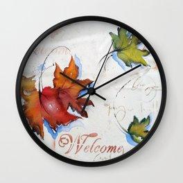Platanus Leafs Wall Clock