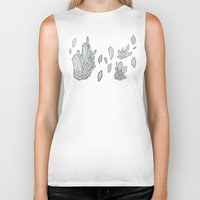 crystals Biker Tanks featuring Crystals by Sushibird
