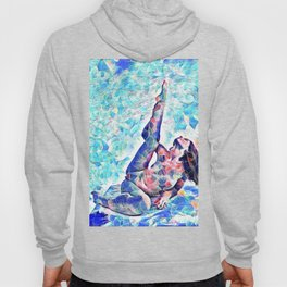 3047-JPC Abstract Nude in Blue Green Yoga Stretch Feminine Power Hoody