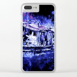 old ship boat wreck ws db Clear iPhone Case