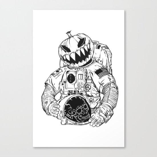 Astronaut's Halloween  Canvas Print