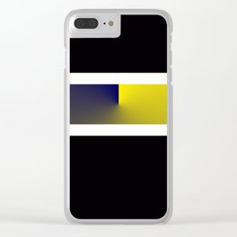 Team Colors 3...navy,yellow Clear iPhone Case