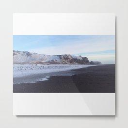 Iceland Black Sand Beach Metal Print