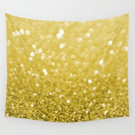 Pure Gold Powder texture Wall Tapestry