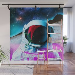Synthwave Space: Astronaut #2 Wall Mural