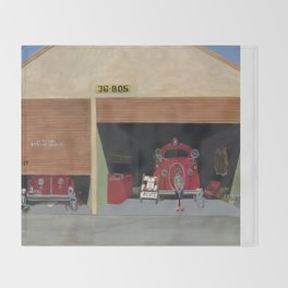 The Old Firehouse Throw Blanket