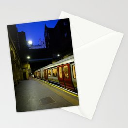 London Underground at Night | Red & Yellow Color Photography | Travel Photography | Photo Print | Art Print Stationery Cards