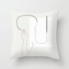 Espírito fumando Throw Pillow