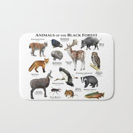 Animals of the Black Forest Bath Mat