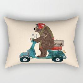 scooter bear Rectangular Pillow