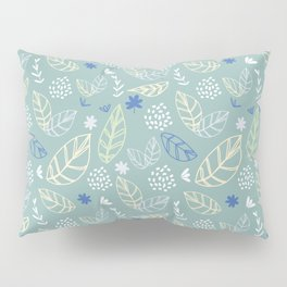 Lines of Leaves and bursts Pillow Sham
