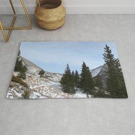 Watercolor Landscape, North Crestone Trail 03, Colorado Rug