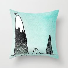 Mountain Climber Camp Throw Pillow
