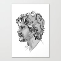 will graham Canvas Prints featuring Will Graham by otterymary