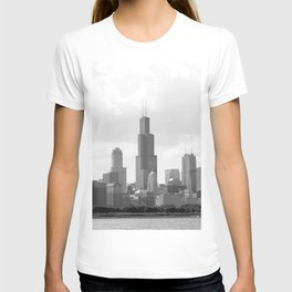 Chicago Skyline Black and White T-shirt