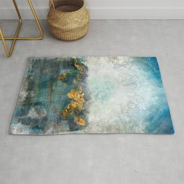 Lapis - Contemporary Abstract Textured Floral Rug