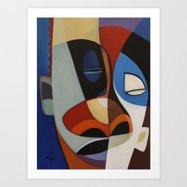 modern mask Art Print