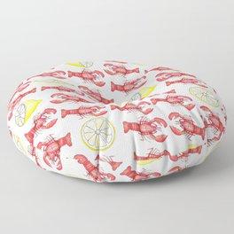 Lobsters & Lemons Floor Pillow