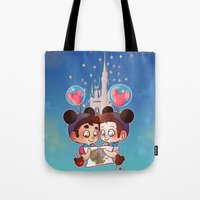 klaine Tote Bags featuring Sweet Day by Sunshunes