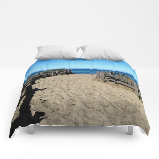 Footprints to the Beach Comforters