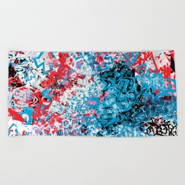 Demonic Toy Poodle Abstract Beach Towel