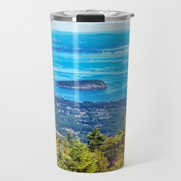 View of Bar Harbor, Maine from Cadillac Mountain (1) Travel Mug