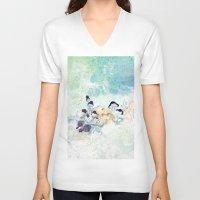 mushroom V-neck T-shirts featuring mushroom by ARTION