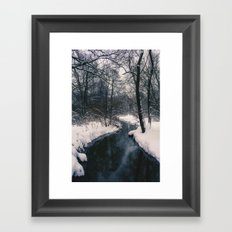 Almost frozen Framed Art Print
