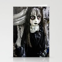 goth Stationery Cards featuring Goth Girl by Nevermind the Camera